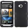 BasAcc Rubberized Black/ Black TUFF Case for HTC One/ M7