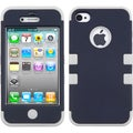 BasAcc Rubberized Sapphire Blue/ Grey TUFF Case for Apple iPhone 4/ 4S