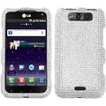 BasAcc Silver Diamante Case for LG MS840 Connect 4G/ LS840 Viper