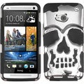 BasAcc Silver Plating/ Black Skullcap Case for HTC One/ M7