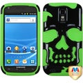 BasAcc Solid Black/ Green Skullcap Case for Samsung T989 Galaxy S2