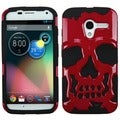 BasAcc Solid Red/ Black Skullcap Hybrid Case for Motorola Moto X