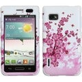 BasAcc Spring Flowers/ Solid White TUFF Case for LG VM720 Optimus F3
