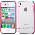 BasAcc T-clear/ Solid Hot Pink Tentacles Case for Apple iPhone 4/ 4S