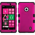 BasAcc Titanium Solid Hot Pink/ Black TUFF Case for Nokia Lumia 521