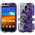 BasAcc Twilight Petunias/ Solid White TUFF Case for Samsung Galaxy S2