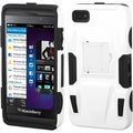 BasAcc White/ Black Advanced Armor Stand Case for Blackberry Z10