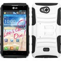 BasAcc White/ Black Advanced Armor Stand Case for LG MS870 Spirit 4G