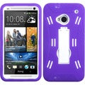 BasAcc White/ Purple Symbiosis Stand Case for HTC One M7