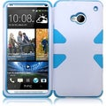 BasAcc White/ Sky Blue Case for HTC One M7