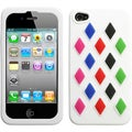 BasAcc Rainbow Zebra/ White Pastel Skin Case for Blackberry 9360/ 9350