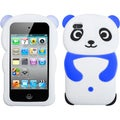 BasAcc White Panda/ Dark Blue Hands Case for Apple iPod touch 4