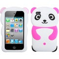 BasAcc White Panda/ Hot Pink Hands Case for Apple iPod touch 4