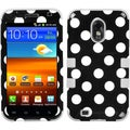 BasAcc White Polka Dots Black/ Grey TUFF Case for Samsung Galaxy S2