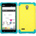 BasAcc Yellow/ Tropical Teal TotalDefense Case for LG P769 Optimus L9