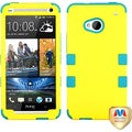 BasAcc Yellow/ Tropical Teal TUFF Hybrid Case for HTC One/ M7