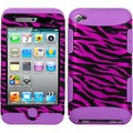 BasAcc Zebra Skin / Electric Purple TUFF Case for Apple iPod Touch 4