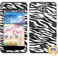 BasAcc Zebra Skin/ Black TUFF Hybrid Case for LG MS870 Spirit 4G