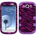 BasAcc Zebra Skin Pink/ Black/ Purple TUFF Case for Samsung Galaxy S3