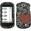 BasAcc Curve Heart Diamante Protector Case for LG C729 Doubleplay
