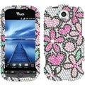 BasAcc Fantastic Flowers Diamante Case For HTC Mytouch 4G Slide