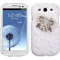 BasAcc Heart Bow/ Pearl 3D Diamante Case for Samsung Galaxy S III