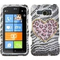 BasAcc Playful Leopard Diamante Phone Case for HTC Titan II