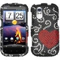 BasAcc Curve Heart Diamante Phone Case for HTC Amaze 4G