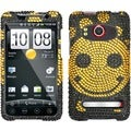 BasAcc Happy Face/ Diamante Phone Case for HTC EVO 4G