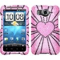 BasAcc Fervor Heart/ Diamante Case for HTC Inspire 4G