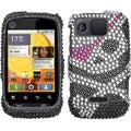 BasAcc Skull Diamante Case for Motorola WX445 Citrus