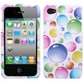 BasAcc Rainbow Bigger Bubbles Case for Apple iPhone 4S/ 4