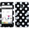 BasAcc Black/ White Dots TUFF Hybrid Stand Case LG P769 Optimus L9