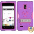 BasAcc Blush/ Purple TUFF eNUFF Hybrid Stand Case LG P769 Optimus L9