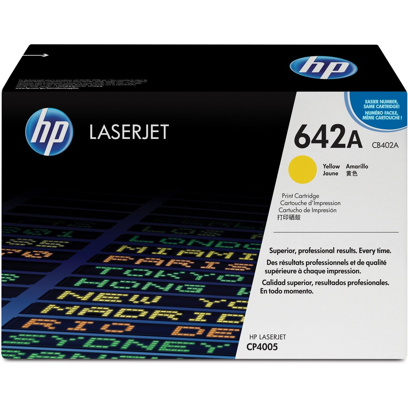 HP Yellow Toner Cartridge For LaserJet CP4005, CP4005n and CP4005dn Printers
