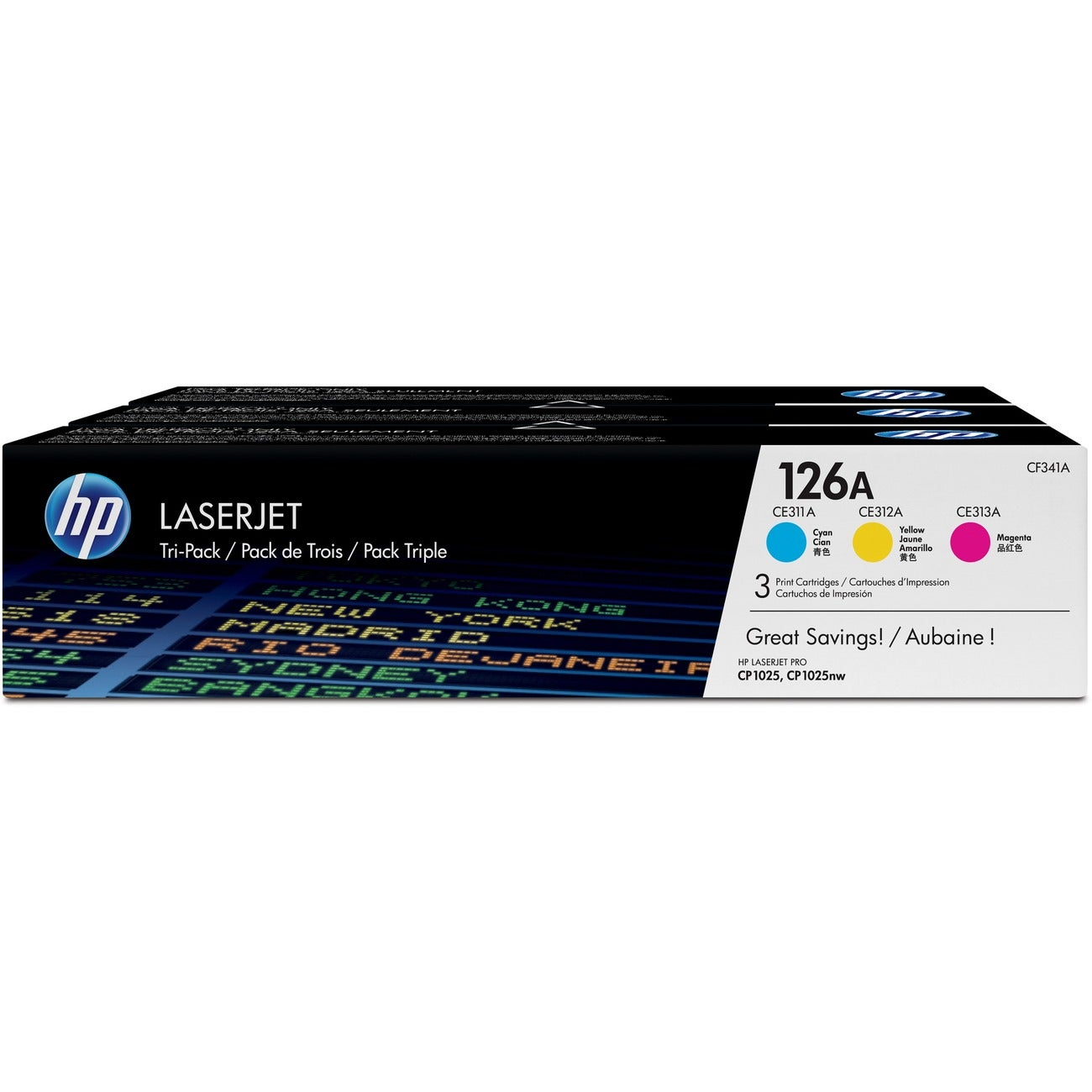 HP 126A Toner Cartridge - Cyan, Magenta, Yellow