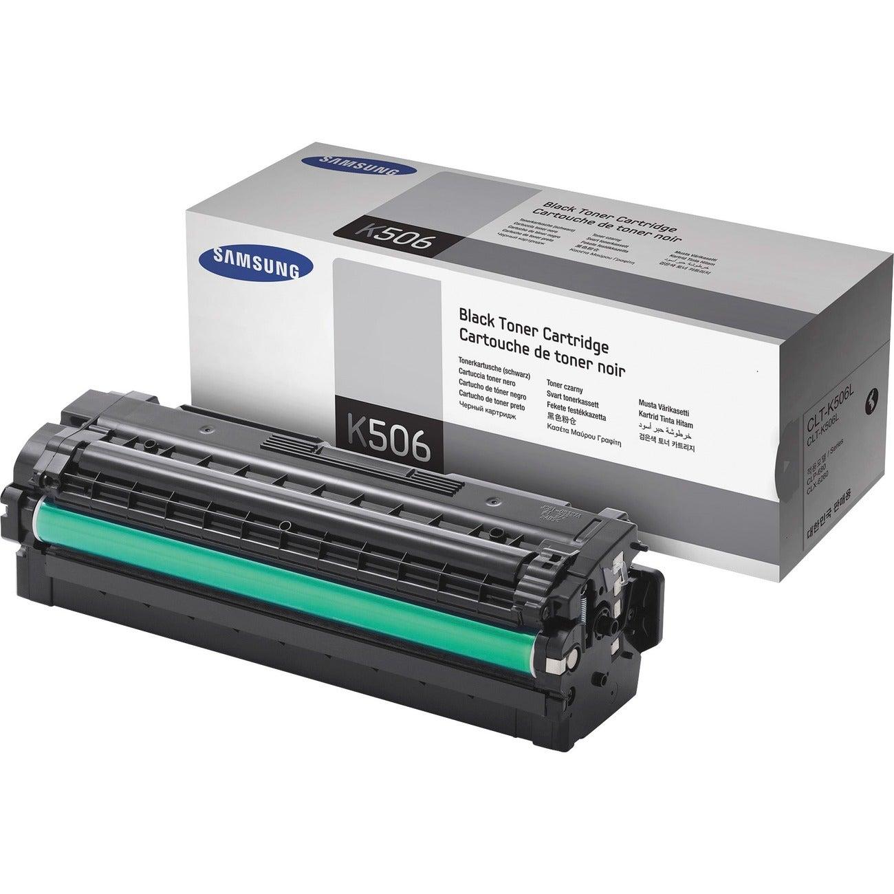 Samsung CLT-K506L Toner Cartridge - Black