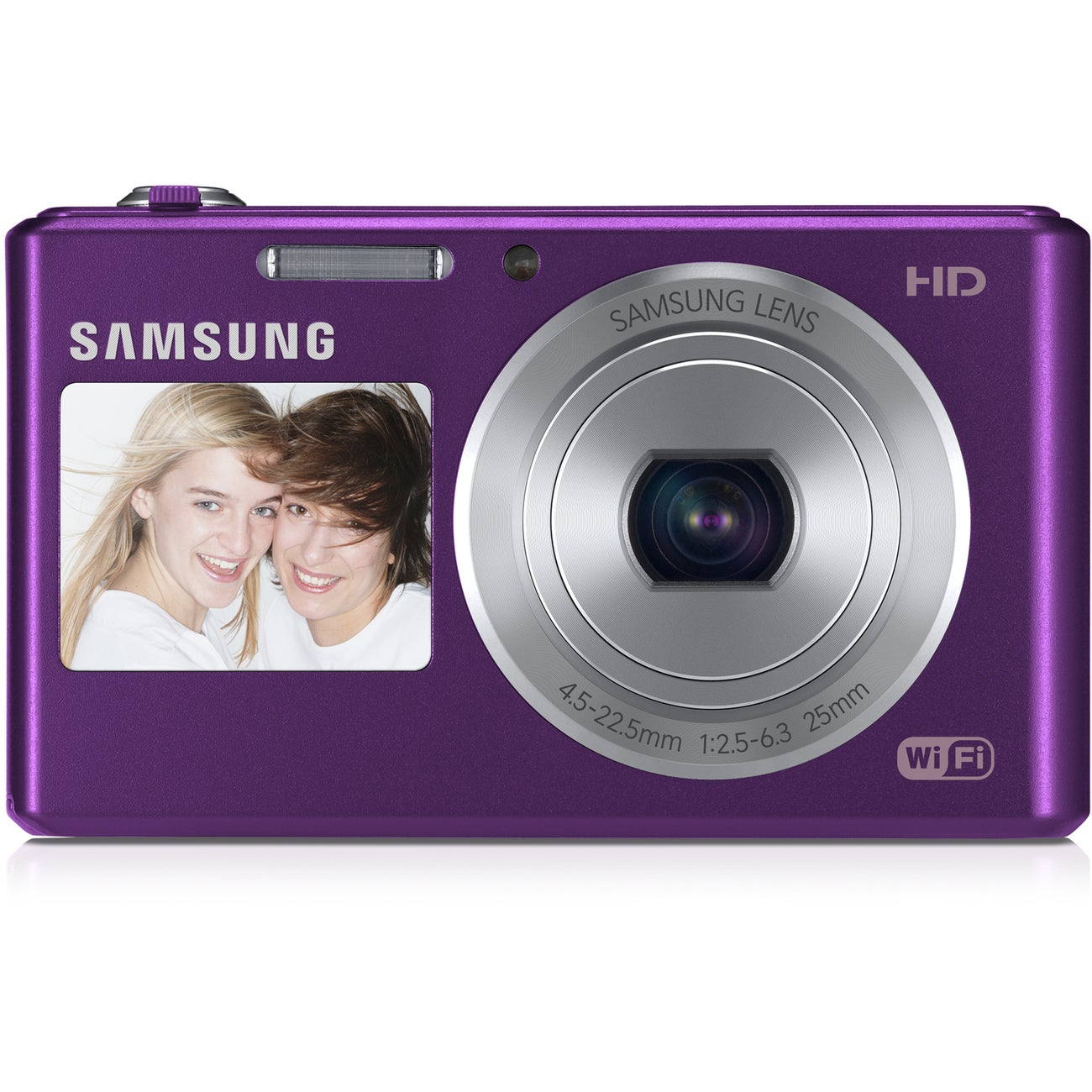 Samsung DV150F Dual View Smart Wi-Fi 16.2MP Plum Digital Camera