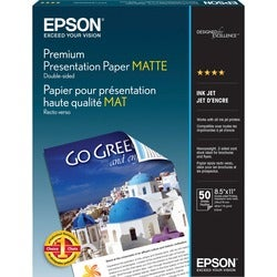 Epson Double-Sided Matte Photo Paper (8.5 x 11-inch, 50-Sheets)