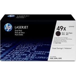 HP Dual Pack Black Toner Cartridge for Laser Printers