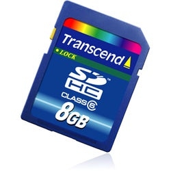 Transcend 8GB Secure Digital High Capacity (SDHC) Card - Class 6