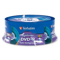 Verbatim 96432 DVD Recordable Media - DVD+R - 16x - 4.70 GB - 25 Pack