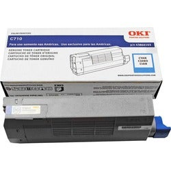Oki Cyan Toner Cartridge For C710 Series Printers