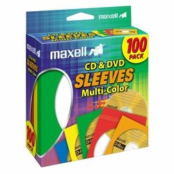 Maxell Multi-Color CD & DVD Sleeve