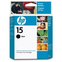 HP No. 15 Black Ink Cartridge