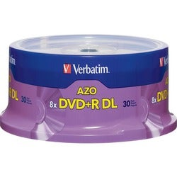 Verbatim 8x DVD+R Double Layer Media - 30-Pack