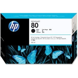 HP No. 80 Black Ink Cartridge for DesignJet 1050C/1055CM