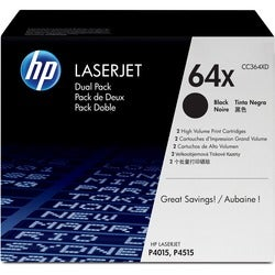No. 64X Dual-Pack Toner Cartridge