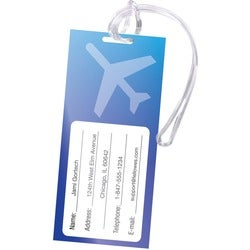 Fellowes Self-Adhesive Pouches - Luggage Tag with Loop, 5 pack