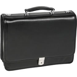McKlein 43555 Black Leather Laptop Briefcase